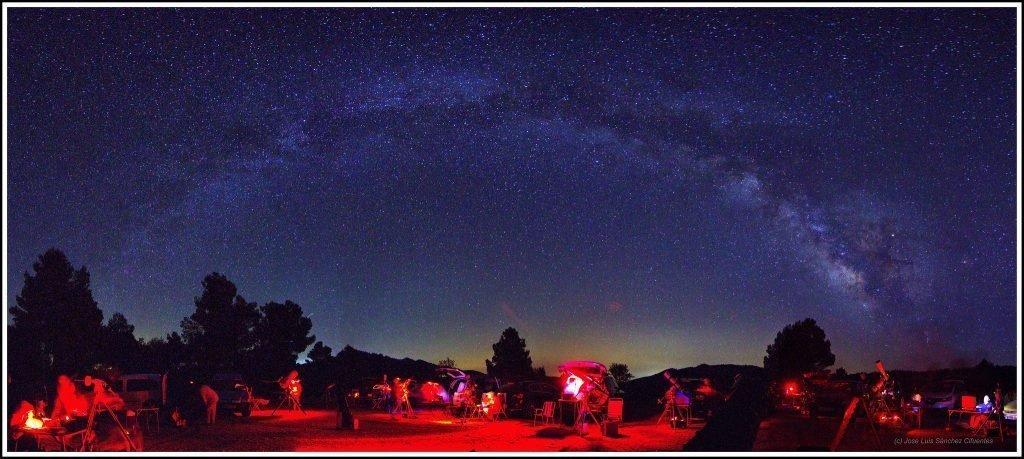 Salida de observación astronómica